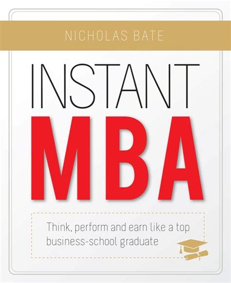Instant Mba Book by Instant Mba Advantage Quest Publications