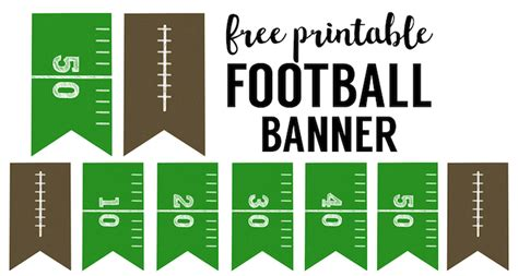 printable football banner free printable football decorations football party