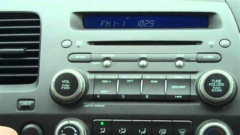 reset honda civic radio how to reset your honda radio code townsend honda