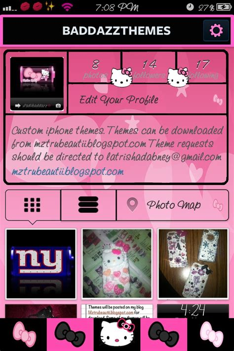 hello kitty themes on cydia pink hello kitty instagram theme thebigboss org iphone