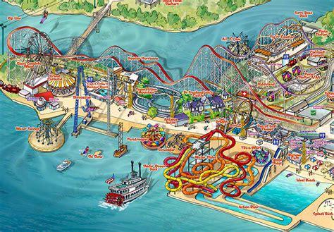 indiana resort map indiana amusement resort map illustration