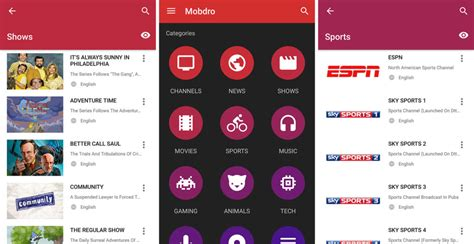 mobdro apk version free android apps apk - New Apps For Android Apk
