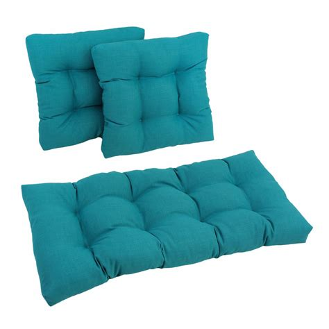 outdoor settee cushions blazing needles outdoor spun poly settee cushions set of