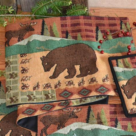 country placemats and table runners rustic country placemats and table runners cabin place