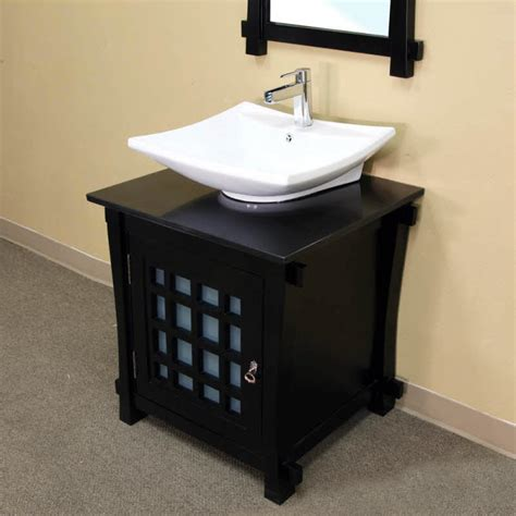 30 single black bathroom vanity by bellaterra home