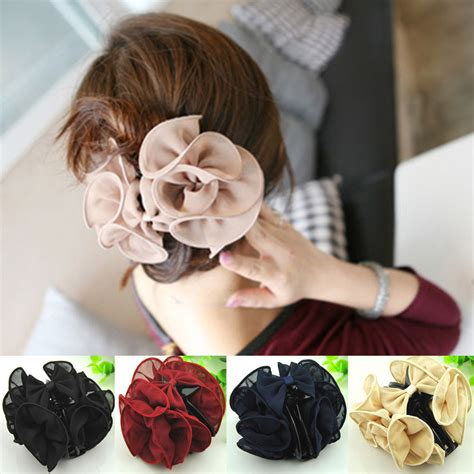 what kind of clip on hair for women with baldness on top of head hot sale women flower hair clip hairdresse lady headpiece