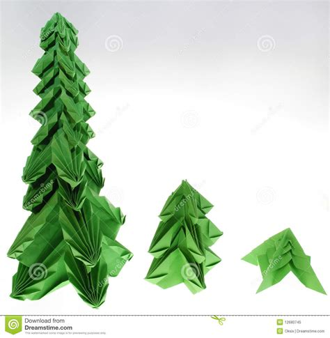 Origami Fir Tree - origami fir tree royalty free stock photo image 12680745