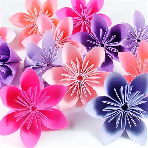 How To Make A Paper Flower Step By Step - how to make origami flowers step by step