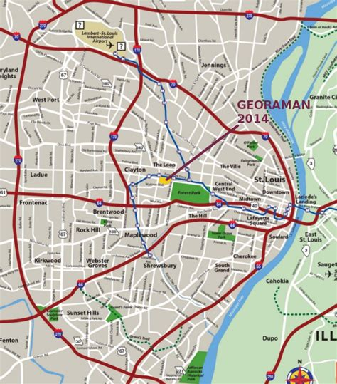 map of st louis mo georaman 2014 11th in st louis mo usa