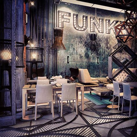 Funky Cafe Interiors by