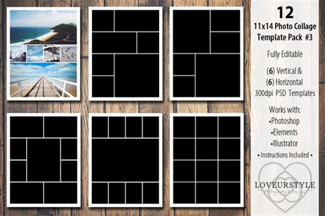3 photo collage template 12 best wedding album templates for your studio infoparrot