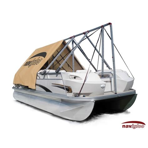 navigloo pontoon boat covers cover for pontoon 14 18 189 ft with tarp 18x26