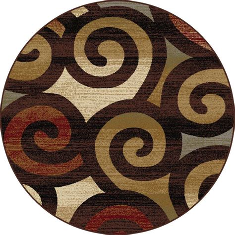 Circular Area Rugs Tayse Rugs Festival Multi 5 Ft 3 In X 5 Ft 3 In Contemporary Area Rug 8960 Multi 6