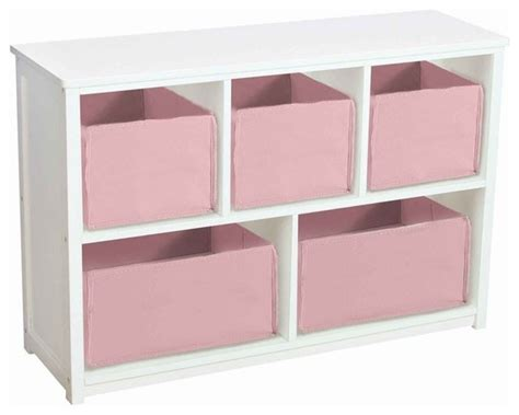 guidecraft classic white wooden bookshelf with storage
