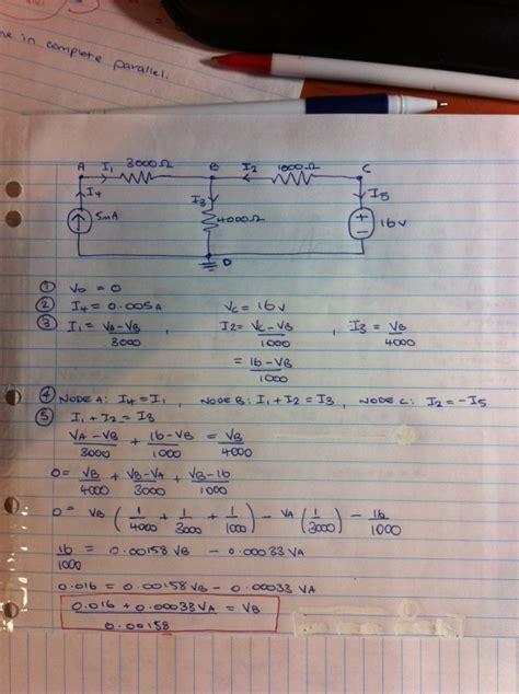 voltage circuit analysis with nodal analysis