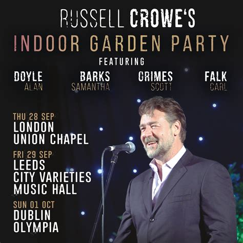 russell crowes indoor garden party  olympia theatre dublin