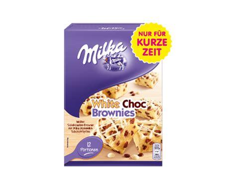 meine backkreation milka white choc brownies