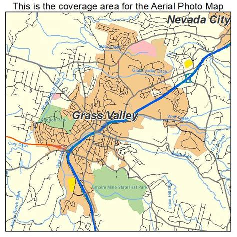 map of grass valley california aerial photography map of grass valley ca california