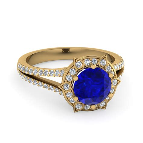 Wedding Rings Sapphire by Wedding Rings Engagement Ring With Sapphire Halo Yellow