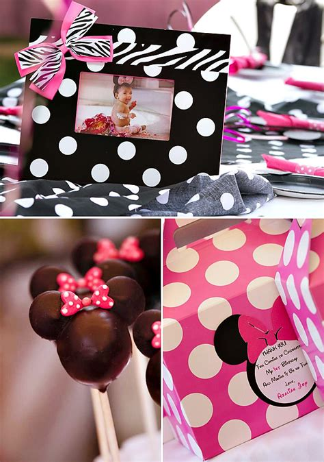 Minnie Mouse Birthday Decorations by Polka Dot Pink Minnie Mouse Birthday