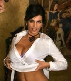 denise milani takes shirt picture break
