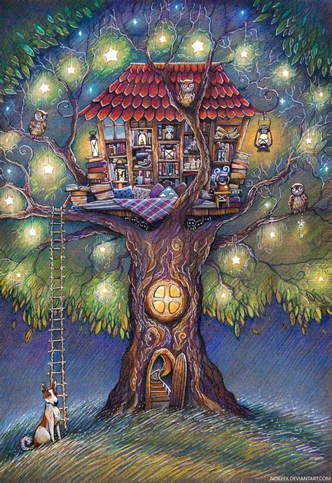 nothing in particular a coloring journal books tree house by nokeek on deviantart
