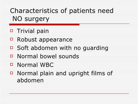 Normal Characteristics Of Stool by Clinical Course Quot Acute Abdomen