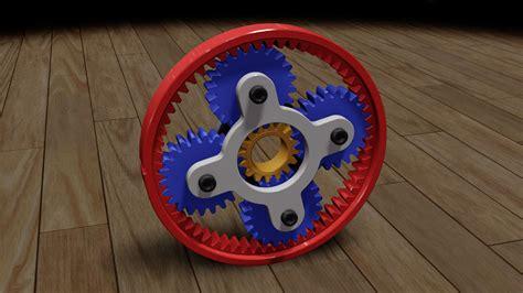 Planetary Gear Animation SW Files free 3D Model .obj