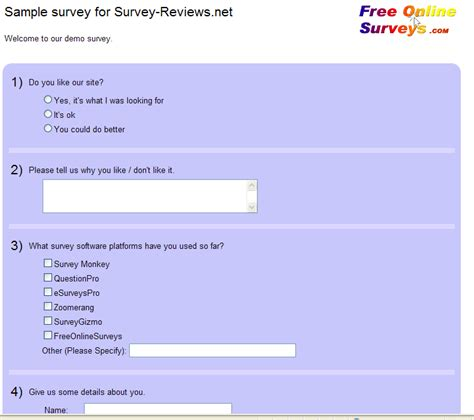Free Survey Software - free web survey analysis online software survey woodsmovement ml