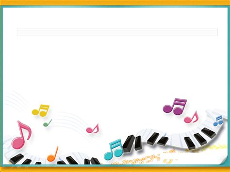 piano music notes with frames ppt backgrounds piano music