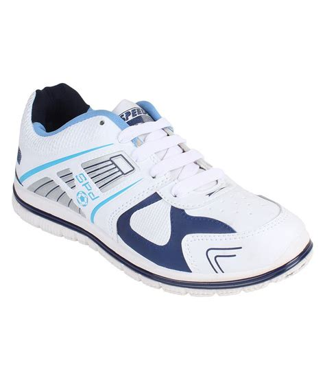 i sports speedo white blue sport shoes price in india