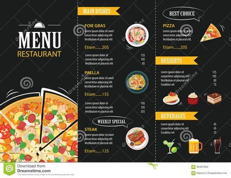 flat design menu exles restaurant cafe menu template flat design stock vector