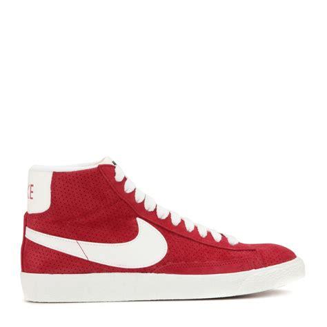 high top sneakers for nike lyst nike blazer mid vintage suede high top sneakers in