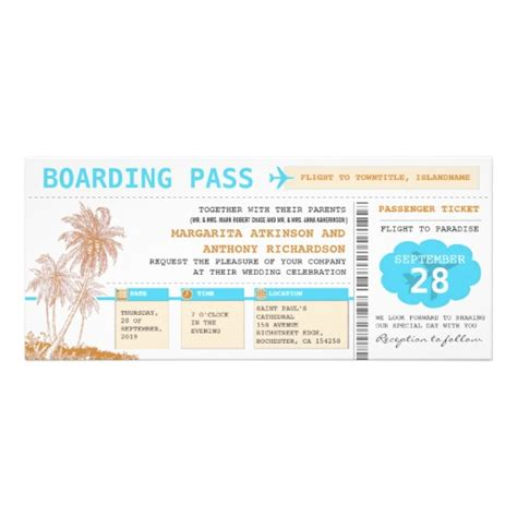 boarding pass invitation template free clipart best