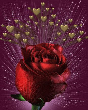 imagenes rosas movibles imagen de amor de corazones y rosas con brillo y