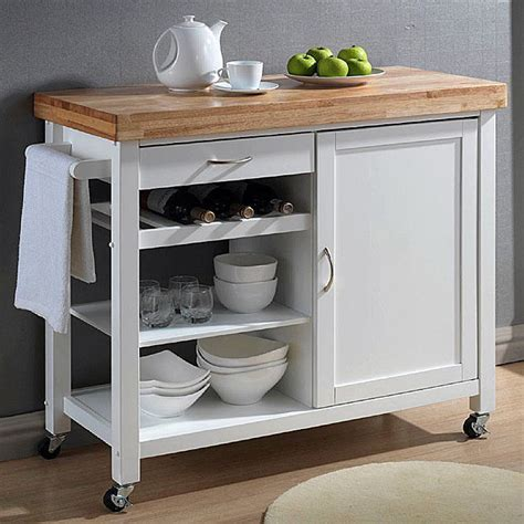 kitchen cart with cabinet kitchen cart white modern butcher block chop counter