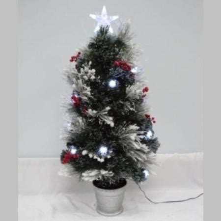 snow and berries christmas tree 90cm snow frosted tree with pine berries and led lights