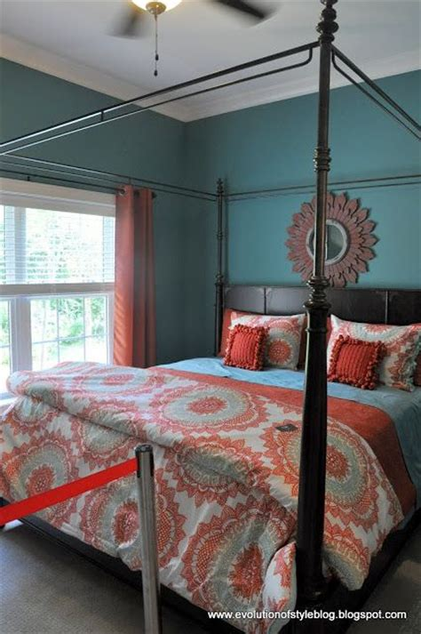 orange and teal bedroom ideas best 25 coral walls bedroom ideas only on pinterest