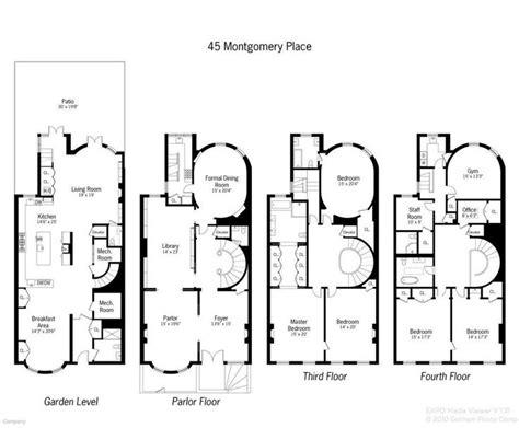 typical brownstone floor plan pleasing 50 typical brownstone floor plan inspiration