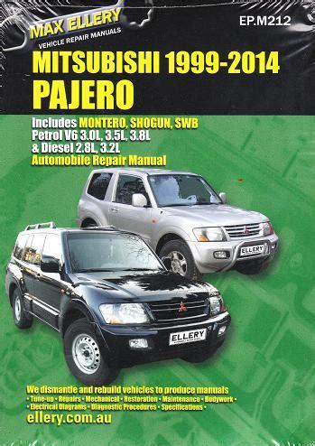 automotive service manuals 1998 mitsubishi pajero on board diagnostic system 1999 2014 mitsubishi pajero montero shogun repair manual