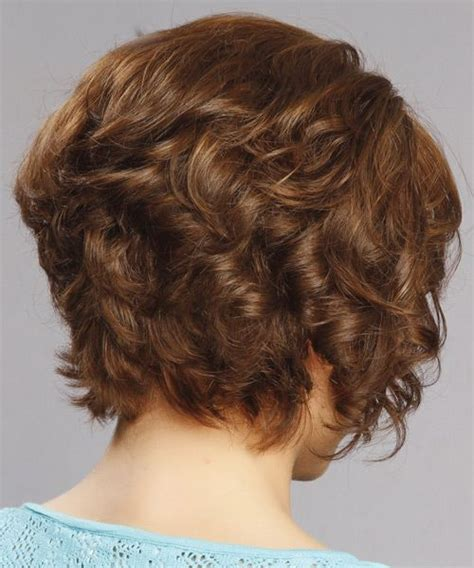 curly in back featered on the sides short curly formal hairstyle medium brunette auburn