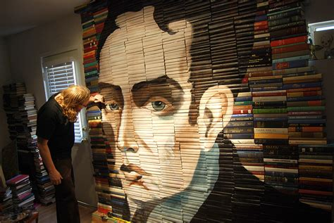 libro los angeles portrait of new paintings on salvaged books by mike stilkey colossal