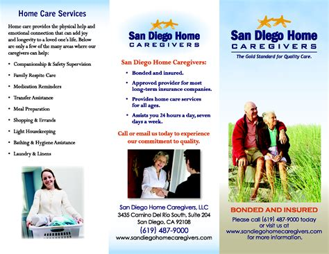 home care brochure template 10 best images of home health care brochure templates