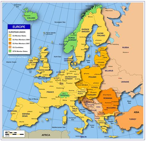 europe map with country names my subjects in