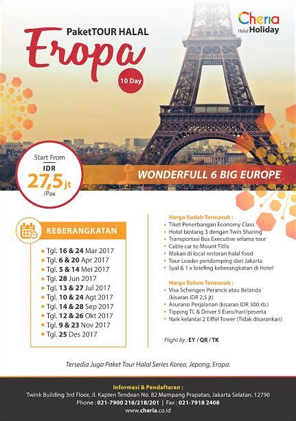 paket  halal eropa promo  pelopor wisata halal dunia