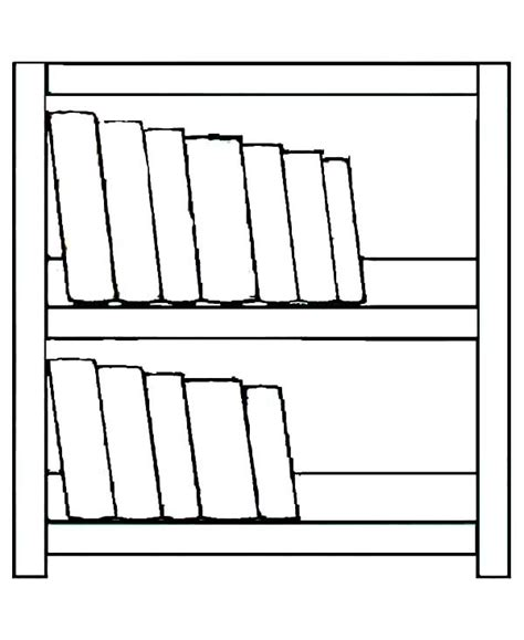 simple made bookshelf coloring pages best place to color