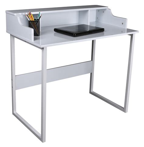 Metal Frame Computer Desk Bentley White Office Workstation Computer Laptop Desk With Steel Frame Ebay