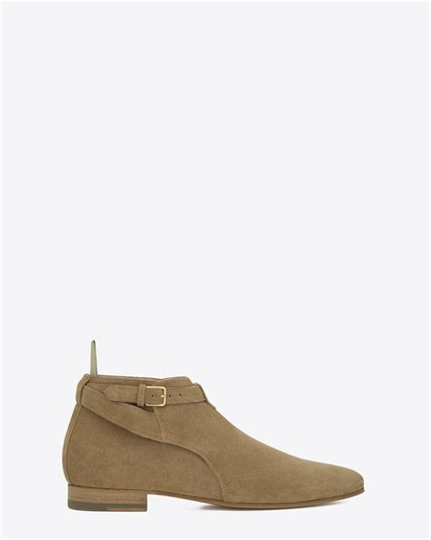 ysl boots laurent classic 20 cropped jodhpur boot in