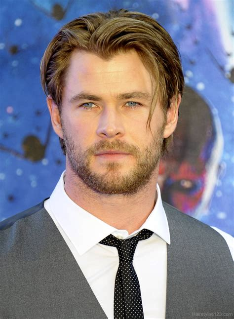 chris hemsworth hairstyles short flipped hairstyles