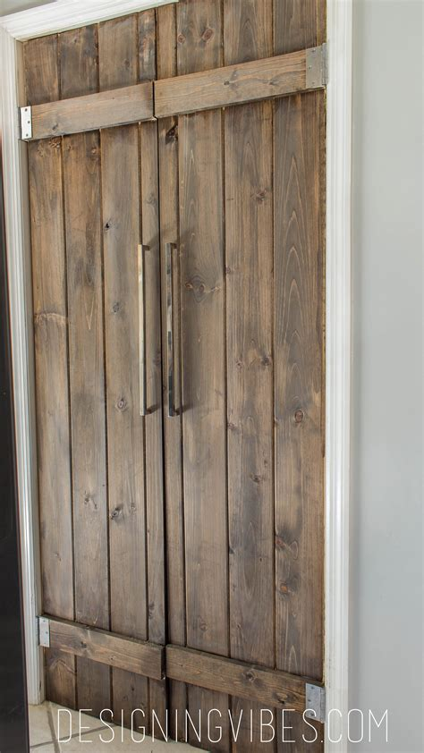 Double Pantry Barn Door Diy Under 90 Bifold Pantry Door Diy Barn Doors Diy